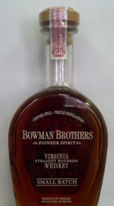 Bottle of Bowman Brothers Pioneer Spirit